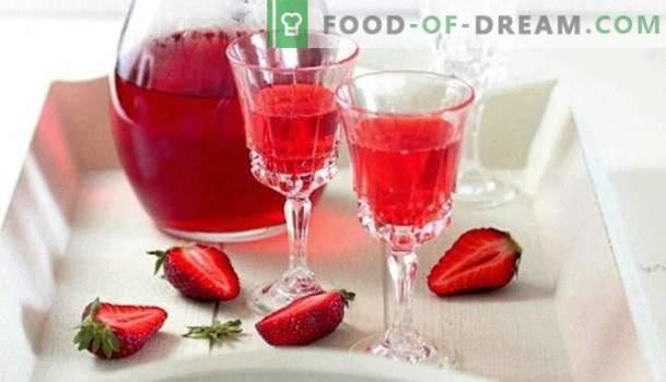 Wein aus dem Einbaumwald und Garten: die wichtigsten Punkte der Vorbereitung. Wie bereite ich einen einfachen und gereiften Wein aus Erdbeeren zu?