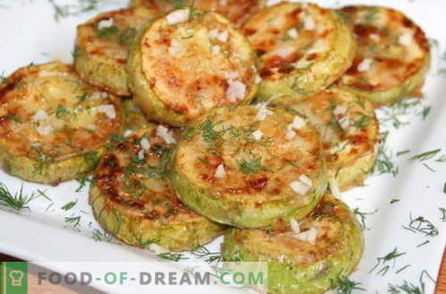 Zucchini mit Knoblauch - die besten Rezepte. Wie man richtig und lecker Zucchini mit Knoblauch zubereitet.