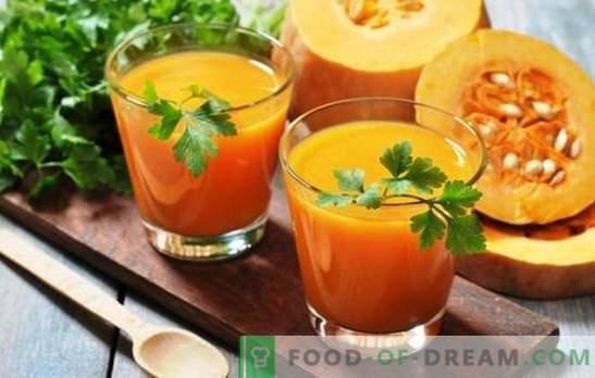 Kürbissaft mit Orangen für den Winter - eine Vitamingebühr! Rezepte Kürbissaft mit Orangen für sonnige Stimmung