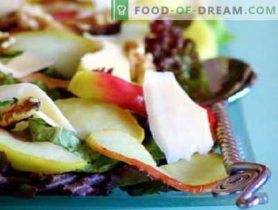 Salate mit Äpfeln sind die besten Rezepte. Wie man richtig und lecker einen Salat mit Äpfeln zubereitet.