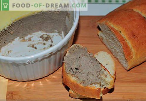 Paté de hígado de res - las mejores recetas. Cómo cocinar correctamente y sabroso la paté de hígado de res.