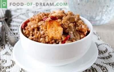 Buchweizen mit Schweinefleisch in einem langsamen Kocher - ein leckeres Abendessen ohne viel Aufwand. Die besten Rezepte für Buchweizen mit Schweinefleisch in einem Langsamkocher