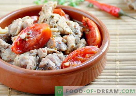 Fleisch mit Tomaten - die besten Rezepte. Wie man Fleisch richtig mit Tomaten kocht.
