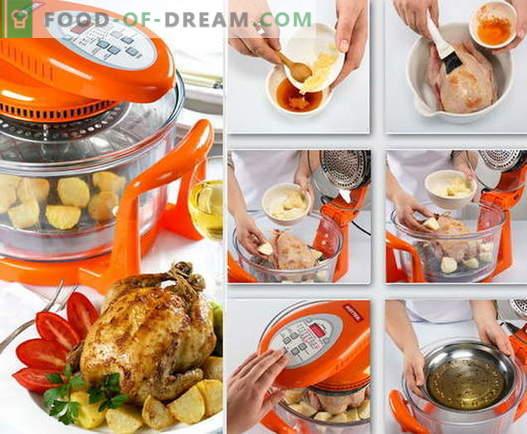 Hühnchen im Aerogrill - die besten Rezepte. Wie man richtig und lecker Hühnchen in Umluftöfen kocht.