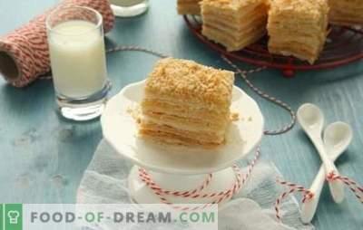 Napoleon-Kuchen aus Blätterteiggebäck ist ein Dessert ohne Mühe. Rezepte Kuchen