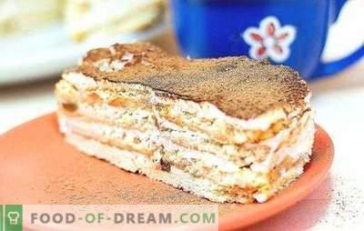 Kuchen aus Crackern und Sauerrahm ist ein zartes Dessert für alle Gelegenheiten. Die besten Kuchenrezepte aus Crackern und Sauerrahm mit verschiedenen Zusatzstoffen