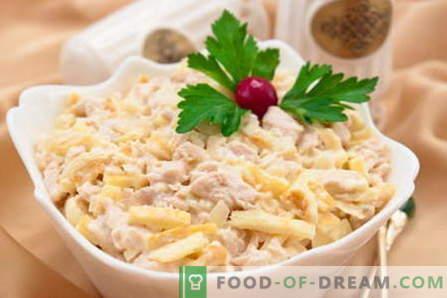 Salat-Zärtlichkeit - die besten Rezepte. Wie man richtig und lecker Salat Zärtlichkeit zubereitet.