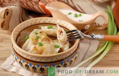 Găleți cu ceapă - o opțiune economică! Diferite rețete de găluște cu ceapă și brânză, cartofi, ouă, ciuperci
