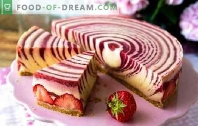 Zebrakuchen (Schritt-für-Schritt-Rezept) ist ein originelles Dessert ohne großen Aufwand. Schritt für Schritt Rezeptekuchen
