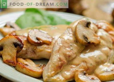 Hühnchen in Sauerrahm - die besten Rezepte. Wie man Hühnchen in Sauerrahm kocht.