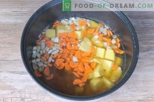 Sopa de ervilha receita passo-a-passo com uma foto - uma opção de orçamento para toda a família