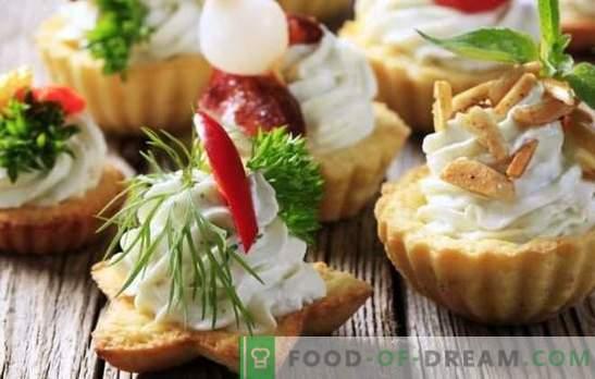 Süße Snacks - Desserts für die Stimmung! Verschiedene süße Snacks in Törtchen zubereiten, aus Früchten, Keksen, Kondensmilch, Hüttenkäse