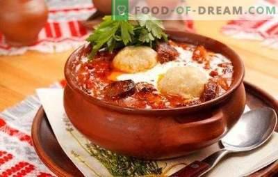 Wie wird die Leber in einem Topf gegart? Rezepte mit Rindfleisch und Hühnerleber in Töpfen - köstliche Hausart