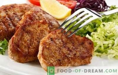 Schweinesteak in einer Pfanne - lernen Sie, wie man Fleisch köstlich brät! Die besten Rezepte für Schweinesteak in einer Pfanne in den Original-Marinaden