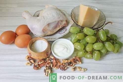 Tiffany-Salat mit weißen Trauben - lecker, glamourös, aber nicht teuer!