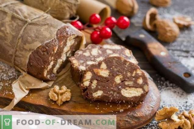 Schokoladenwurst - Dessert ohne Backen