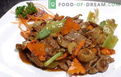 Fleisch in Sojasauce: Schweinefleisch und Rindfleisch. Top 10 Rezepte zum Kochen von Fleisch marinierte Sojasauce