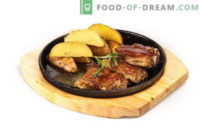 Cūkgaļas ribiņas ar kartupeļiem krāsnī - mīksts, sulīgs un garšīgs! Cūkgaļas ribiņas ar kartupeļiem cepeškrāsnī: receptes