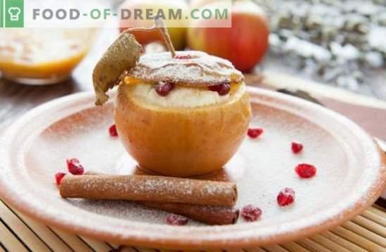 Apfel-Dessert - eine Köstlichkeit mit Ihrem Lieblingsgeschmack! Kochen von Eiscreme, Pastillen, Gebäck, Salaten und anderen hausgemachten Desserts aus Äpfeln