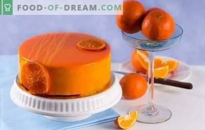 Orangeglasur - duftendes Backdesign. Rezepte Orangenglasur auf Sahne, Milch, Schokolade