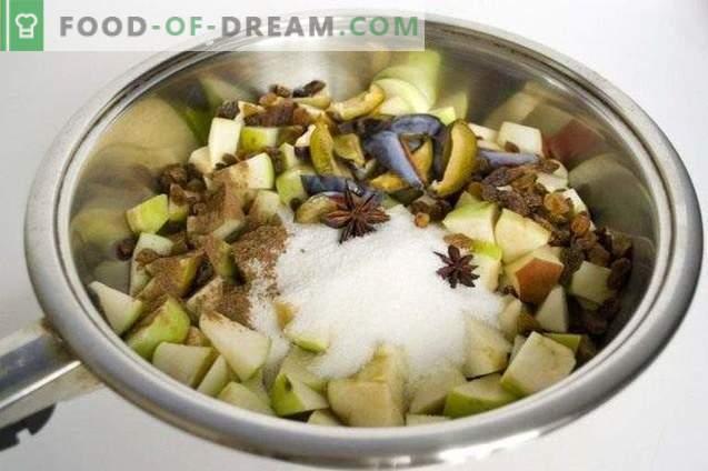 Biskuitkuchen mit Herbstfrüchten