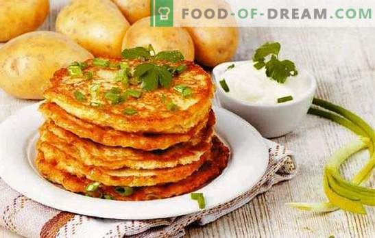 Belarussische Pfannkuchen - das ist eine Kartoffel! Rezepte verschiedener belarussischer Pfannkuchen: klassisch, mit Hackfleisch, Pilzen, Knoblauch