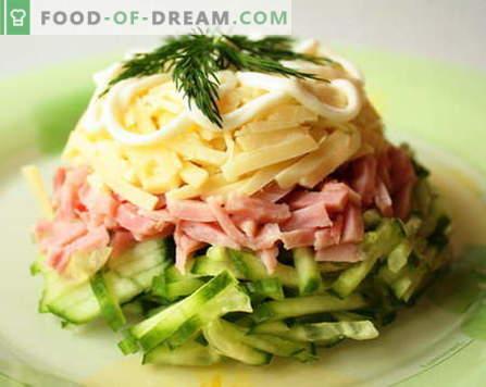 Salades au jambon - les meilleures recettes. Comment bien et savoureux faire cuire une salade avec du jambon.