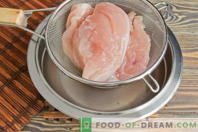 Getrocknete Hühnerbrust zu Hause