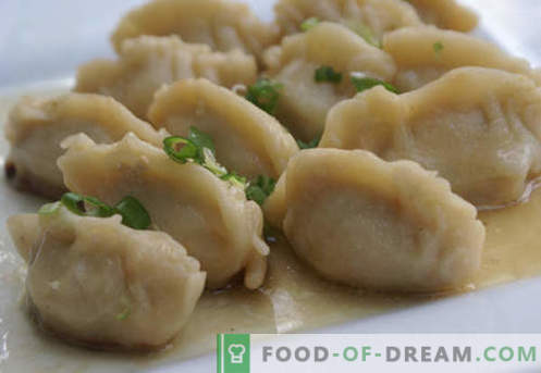 Knödel auf Kefir - die besten Rezepte. Wie man richtig und lecker Knödel zu Hause auf Kefir kocht.