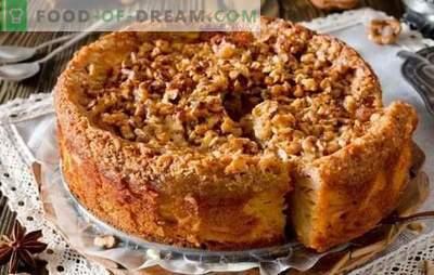 Schneller Kuchen zum Tee - Rezepte für die Hausfrauen! Rezepte für schnelle Kuchen zum Tee mit Hüttenkäse, Äpfeln, Kakao, Marmelade und Marmelade