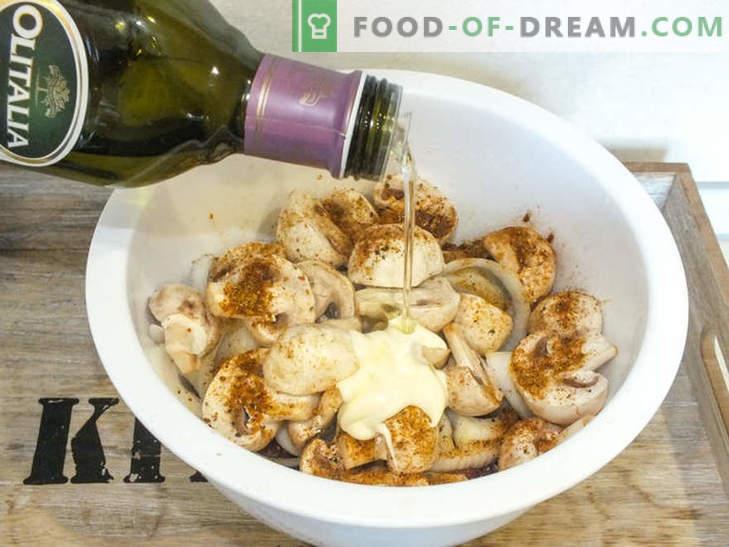 Sappig rundvlees met champignons in folie gebakken - een recept voor een heerlijk gerecht met een geheim