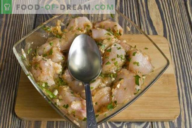 Hühnchenkebabs im Ofen