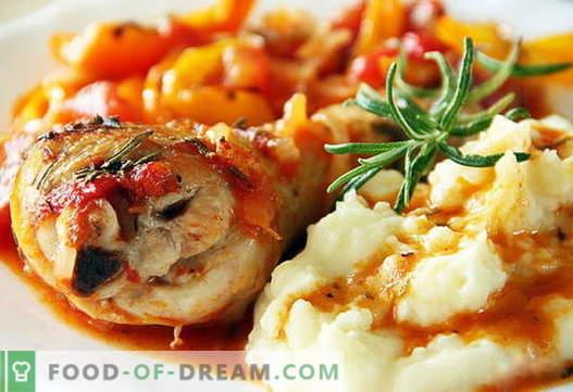 Hühnchen-Kartoffelpüree sind die besten Rezepte. Wie man richtig und lecker Kartoffelpüree mit Hühnerfleisch kocht.