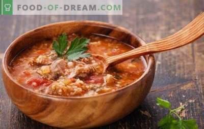 Die georgische Suppe ist ein köstlich würziger erster Gang. Die besten Rezepte georgischer Suppen: Kharcho, Shechamandy, Hashi, Bozartmu
