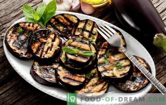 Wie man Auberginen in einer Pfanne lecker und schnell kocht. Auberginengerichte in einer Pfanne mit Käse, Kräutern und Gemüse
