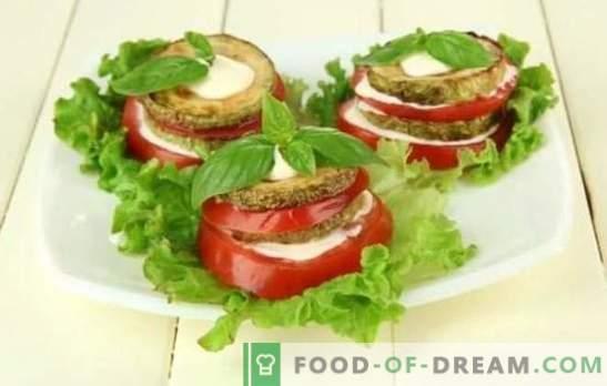 Zucchini Snack mit Tomaten ist ein originelles Gericht aus einfachen Produkten! Bewährte Zucchini-Häppchen mit Tomaten: braten, köcheln und backen