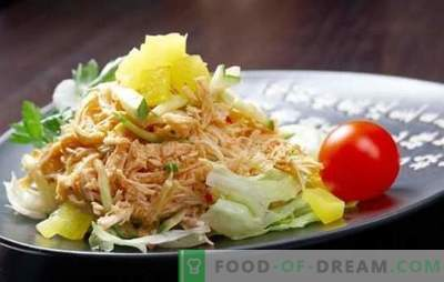 Geräucherter Hühnersalat - jeder kann lecker kochen! Eine Auswahl verschiedener Salate mit geräucherten Beinen