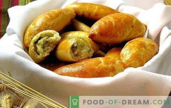 """Bulviniai pyragai orkaitėje - """"greitas maistas"""" rusų kalba. Receptai tešlai ir užpildai skaniausiems bulvių pyragams orkaitėje"""