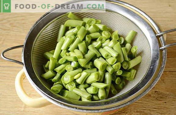 So frieren Sie grüne Bohnen für den Winter ein