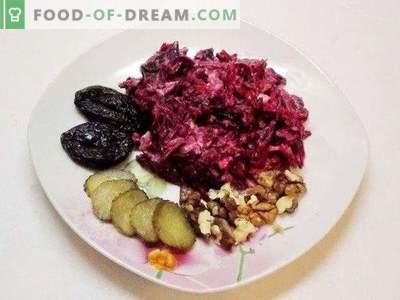 Rote-Bete-Salat mit Knoblauch und Bordeaux-Walnüssen