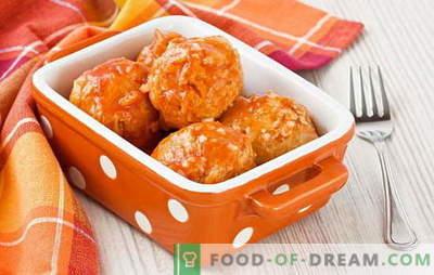 Fleischbällchen mit Soße - saftiges Fleisch in einer duftenden Sauce. Wie man Fleischbällchen mit Bratensoße zubereitet: im Ofen, in der Pfanne