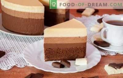 Drei Schokoladenkuchen: ein Rezept für die anspruchsvollsten Feinschmecker.
