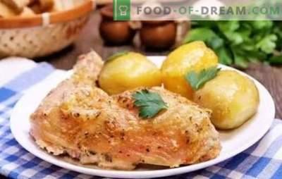 Hähnchenschenkel in Mayonnaise - garantiert eine rötliche Kruste. Einfache Rezepte gebratener, gebackener Hähnchenschenkel mit Mayonnaise
