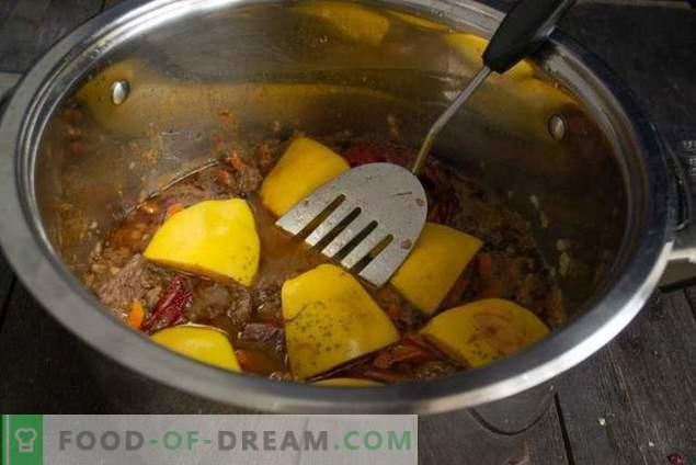 Duftender Pilaw mit Quitte und Rindfleisch