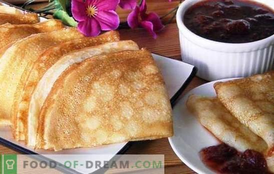 Vanillepuddingpfannkuchen mit Milch sind nur ein Wunder! Rezepte und Serviermöglichkeiten für Vanillepuddingpfannkuchen mit Milch