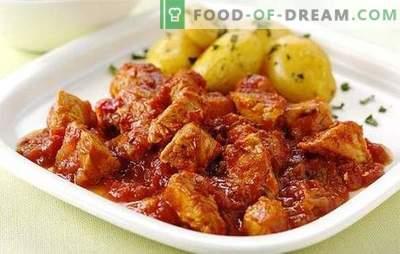 Multicooker-Eintopf ist eines der beliebtesten Rezepte. Gerichte aus Rindfleisch, Schweinefleisch, Hühnchen, Kaninchen: Das Fleisch in einem Slow Cooker