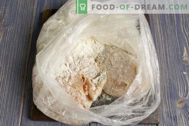 Köstliches Hähnchenfilet mit Käse im Ofen