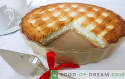 Sandkuchen mit Hüttenkäse ist ein gesunder Nachtisch. Hüttenkäse-Shortcake mit Beeren, Äpfeln, Kakao, Bananen