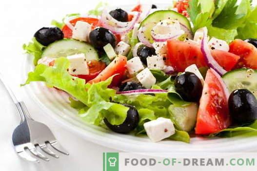 Grekisk sallad - de bästa recepten. Hur till rätt och god mat Grekisk sallad