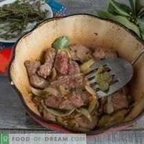 Französisches Rindfleisch mit Rotwein und Borodino-Brot